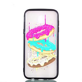 voordelige Galaxy J3(2017) Hoesjes / covers-hoesje Voor Samsung Galaxy J7 (2017) / J5 (2017) / J3 (2017) Transparant / Reliëfopdruk / Patroon Achterkant Voedsel Hard PC