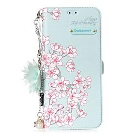 voordelige Galaxy S7 Edge Hoesjes / covers-hoesje Voor Samsung Galaxy Kaarthouder / met standaard / Flip Bloem Hard