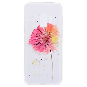 Недорогие Чехлы и кейсы для Galaxy S5 Mini-Кейс для Назначение SSamsung Galaxy S9 / S9 Plus / S8 Plus Прозрачный / С узором Кейс на заднюю панель Цветы Мягкий ТПУ