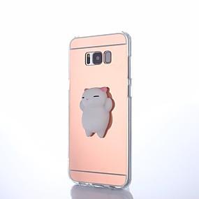 voordelige Galaxy S7 Edge Hoesjes / covers-hoesje Voor Samsung Galaxy S8 Plus / S8 / S7 edge DHZ / squishy Achterkant dier Hard Acryl