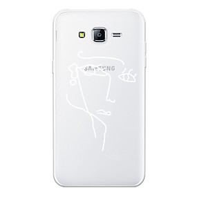 voordelige Galaxy J5(2017) Hoesjes / covers-hoesje Voor Samsung Galaxy J7 (2017) / J7 (2016) / J7 Patroon Achterkant Lijnen / golven / Sexy dame / Geometrisch patroon Zacht TPU