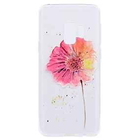 Недорогие Чехлы и кейсы для Galaxy S5 Mini-Кейс для Назначение SSamsung Galaxy S9 / S9 Plus / S8 Plus С узором Кейс на заднюю панель Цветы Мягкий ТПУ