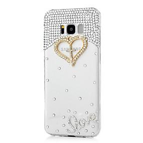 voordelige Galaxy S7 Edge Hoesjes / covers-hoesje Voor Samsung Galaxy S8 Plus / S8 / S7 edge Strass / Patroon Achterkant Hart Hard Acryl