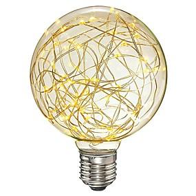 Χαμηλού Κόστους Λαμπτήρες LED με νήμα πυράκτωσης-1pc 3 W LED Λάμπες Πυράκτωσης 300 lm E26 / E27 G95 33 LED χάντρες SMD Φωτιστικό LED Διακοσμητικό Έναστρος Θερμό Λευκό 85-265 V / RoHs