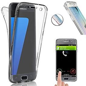 voordelige Galaxy S7 Edge Hoesjes / covers-hoesje Voor Samsung Galaxy S8 Plus / S8 / S7 edge Schokbestendig / Ultradun Volledig hoesje Effen Zacht TPU