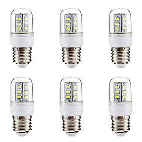 billiga LED-lampa-BRELONG® 6pcs 3W 270lm E14 E26 / E27 LED-lampa 24 LED-pärlor SMD 5730 Varmvit Vit 220-240V