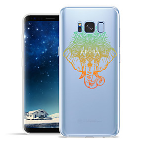 voordelige Galaxy S7 Hoesjes / covers-hoesje Voor Samsung Galaxy S8 Plus / S8 / S7 edge Patroon Achterkant dier / Olifant Zacht TPU