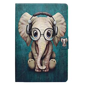 billige Etuier / covers til Samsung Tab-modellerne-Etui Til Samsung Galaxy Tab A 8.0 Kortholder / Med stativ / Flip Fuldt etui Elefant Hårdt PU Læder for Tab A 8.0
