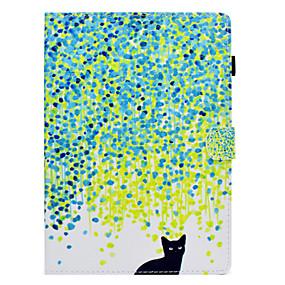 voordelige Galaxy Tab E 9.6 Hoesjes / covers-hoesje Voor Samsung Galaxy Tab S2 9.7 / Tab E 9.6 / Tab A 10.1 (2016) Kaarthouder / Schokbestendig / met standaard Volledig hoesje Kat Hard PU-nahka