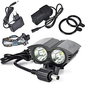 olcso Zseblámpák-Fejlámpák LED LED Sugárzók 6000 lm 1 világítás mód Professzionális Viseletbiztos Könnyű Kempingezés / Túrázás / Barlangászat Kerékpározás Vadászat Fekete Piros Kék