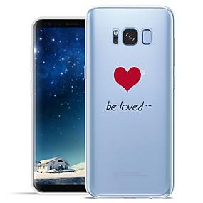 voordelige Galaxy S6 Edge Plus Hoesjes / covers-hoesje Voor Samsung Galaxy S8 Plus / S8 / S7 edge Patroon Achterkant Woord / tekst / Hart Zacht TPU