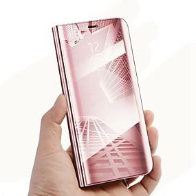voordelige Galaxy J5(2017) Hoesjes / covers-hoesje Voor Samsung Galaxy J7 Prime / J7 Max / J7 (2017) met standaard / Spiegel / Flip Volledig hoesje Effen Hard PU-nahka