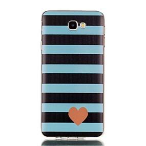 voordelige Galaxy J3(2017) Hoesjes / covers-hoesje Voor Samsung Galaxy J7 Prime / J7 (2017) / J7 (2016) Patroon Achterkant Hart Zacht TPU