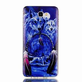 voordelige Galaxy J3(2017) Hoesjes / covers-hoesje Voor Samsung Galaxy J7 Prime / J7 (2017) / J7 (2016) Patroon Achterkant dier Zacht TPU