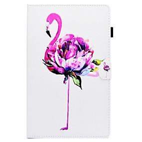 voordelige Galaxy Tab E 9.6 Hoesjes / covers-hoesje Voor Samsung Galaxy Tab E 9.6 Kaarthouder / met standaard / Flip Volledig hoesje Flamingo Hard PU-nahka