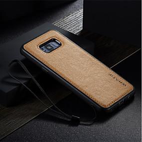 halpa Galaxy S -sarjan kotelot / kuoret-Etui Käyttötarkoitus Samsung Galaxy S8 Plus / S8 / S7 edge Iskunkestävä / Ultraohut / DIY Takakuori Yhtenäinen Kova PU-nahka varten S8 Plus / S8 / S7 edge