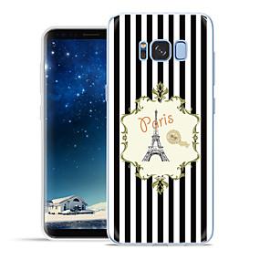 voordelige Galaxy S6 Edge Plus Hoesjes / covers-hoesje Voor Samsung Galaxy S8 Plus / S8 / S7 edge Patroon Achterkant Eiffeltoren Zacht TPU