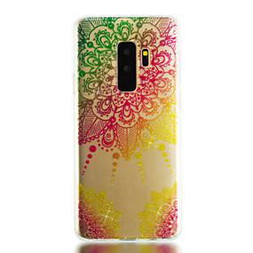 halpa Galaxy S -sarjan kotelot / kuoret-Etui Käyttötarkoitus Samsung Galaxy S9 Plus / S9 IMD / Läpinäkyvä / Kuvio Takakuori Mandala / Kimmeltävä Pehmeä TPU varten S9 / S9 Plus / S8 Plus