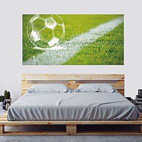Недорогие Декоративные стикеры-Декоративные наклейки на стены - Простые наклейки Футбол 3D Гостиная Спальня Ванная комната Кухня Столовая Кабинет / Офис