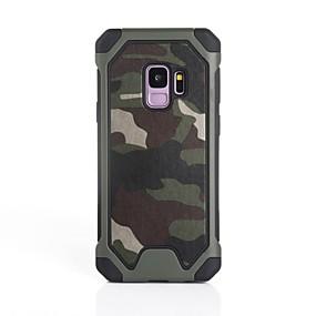 halpa Galaxy S -sarjan kotelot / kuoret-Etui Käyttötarkoitus Samsung Galaxy S9 Plus / S9 Iskunkestävä Takakuori Armeijatyyli Pehmeä Silikoni varten S9 / S9 Plus / S8 Plus