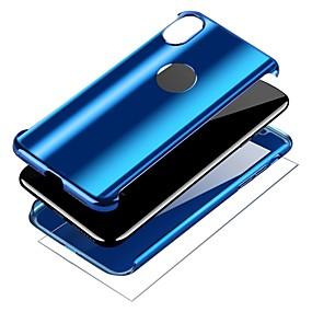 levne iPhone pouzdra-Carcasă Pro Apple iPhone X / iPhone 8 Galvanizované / Držák na prsteny Celý kryt Jednobarevné Pevné PC pro iPhone X / iPhone 8 Plus / iPhone 8