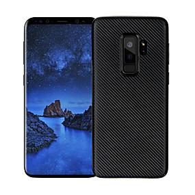 halpa Galaxy S -sarjan kotelot / kuoret-Etui Käyttötarkoitus Samsung Galaxy S9 Plus / S9 Ultraohut Takakuori Linjat / aallot Pehmeä Hiilikuitu varten S9 / S9 Plus / S8 Plus