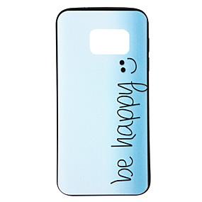 voordelige Galaxy S6 Edge Plus Hoesjes / covers-hoesje Voor Samsung Galaxy S8 / S7 edge / S7 Patroon Achterkant Woord / tekst / Kleurgradatie Zacht TPU