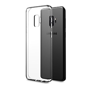 cheap Galaxy S Series Cases / Covers-Case For Samsung Galaxy S9 Plus / S9 Ultra-thin / Transparent Body Back Cover Solid Colored Soft TPU for S9 / S9 Plus / S8 Plus