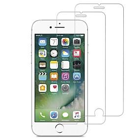 abordables Protections Ecran pour iPhone-Protecteur d'écran pour Apple iPhone 7 Verre Trempé 2 pièces Ecran de Protection Avant Haute Définition (HD) / Dureté 9H / Coin Arrondi 2.5D