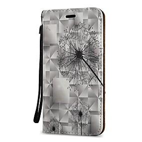 voordelige Galaxy S7 Edge Hoesjes / covers-hoesje Voor Samsung Galaxy S9 / S9 Plus / S8 Plus Portemonnee / Kaarthouder / met standaard Volledig hoesje Paardebloem Hard PU-nahka