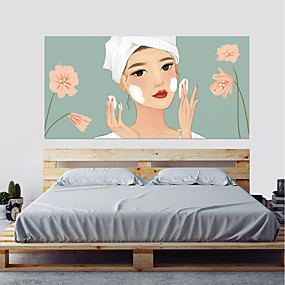 cheap Decoration Stickers-Decorative Wall Stickers - 3D Wall Stickers People Wall Stickers 3D Living Room Bedroom Bathroom Kitchen Dining Room Study Room / Office