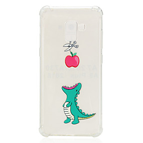 voordelige Galaxy A7(2016) Hoesjes / covers-hoesje Voor Samsung Galaxy A3 (2017) / A5 (2017) / A7 (2017) Schokbestendig / Transparant / Patroon Achterkant dier Zacht TPU