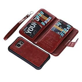 halpa Galaxy S -sarjan kotelot / kuoret-Etui Käyttötarkoitus Samsung Galaxy S9 Plus / S9 Lomapkko / Korttikotelo / Flip Suojakuori Yhtenäinen Kova aitoa nahkaa varten S9 / S9 Plus / S8 Plus