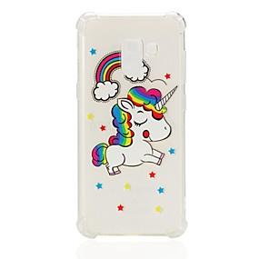 voordelige Galaxy A7(2016) Hoesjes / covers-hoesje Voor Samsung Galaxy A3 (2017) / A5 (2017) / A7 (2017) Schokbestendig / Patroon Achterkant Eenhoorn Zacht TPU
