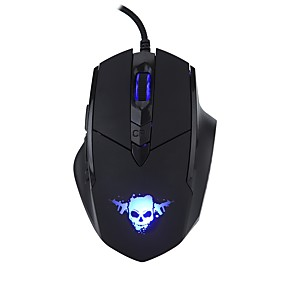 cheap PC&Tablet Accessories-MODAO E1806 Wired USB Optical Gaming Mouse Led Breathing Light 800/1200/1800/2400 dpi 4 Adjustable DPI Levels 6 pcs Keys 2 Programmable Keys