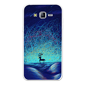 voordelige Galaxy J7(2017) Hoesjes / covers-hoesje Voor Samsung Galaxy J7 (2017) / J7 (2016) / J7 Patroon Achterkant dier / Cartoon / Kleurgradatie Zacht TPU