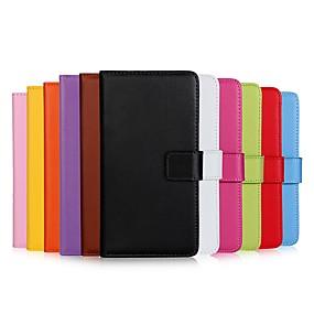 Недорогие Чехлы и кейсы для Galaxy S5 Mini-Кейс для Назначение SSamsung Galaxy S9 / S9 Plus / S8 Plus Кошелек / Бумажник для карт / Флип Чехол Однотонный Твердый Кожа PU