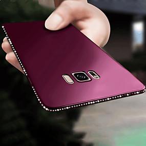 voordelige Galaxy S7 Edge Hoesjes / covers-hoesje Voor Samsung Galaxy S9 / S9 Plus / S8 Plus Strass / Ultradun / Glitterglans Achterkant Effen Zacht TPU