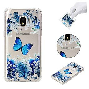 voordelige Galaxy J3(2017) Hoesjes / covers-hoesje Voor Samsung Galaxy J7 (2017) / J7 (2016) / J7 Schokbestendig / Patroon Achterkant Vlinder / Bloem Zacht TPU