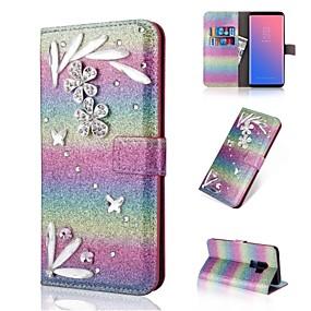 voordelige Galaxy S7 Hoesjes / covers-hoesje Voor Samsung Galaxy S9 / S9 Plus / S8 Plus Portemonnee / Kaarthouder / Strass Volledig hoesje Kleurgradatie Hard PU-nahka