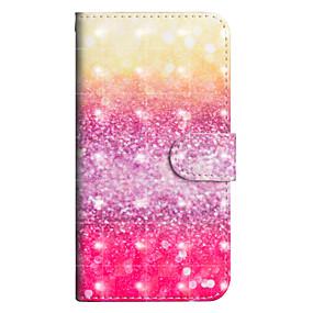 voordelige Galaxy J7(2017) Hoesjes / covers-hoesje Voor Samsung Galaxy J7 (2017) / J6 / J5 (2017) Portemonnee / Kaarthouder / met standaard Volledig hoesje Kleurgradatie Hard PU-nahka