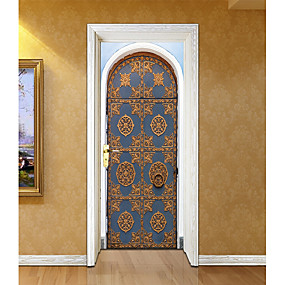 cheap Decoration Stickers-Door Stickers - 3D Wall Stickers Abstract / Landscape Living Room / Bedroom