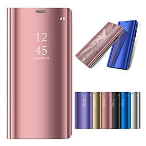 voordelige Galaxy J7 Hoesjes / covers-hoesje Voor Samsung Galaxy On7(2016) / On5(2016) / J7 Prime met standaard / Beplating / Spiegel Volledig hoesje Effen Hard PC