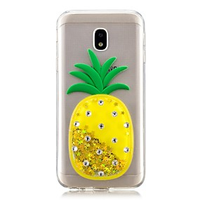 voordelige Galaxy J7 Hoesjes / covers-hoesje Voor Samsung Galaxy J7 Prime / J7 (2017) / J7 (2016) Stromende vloeistof Achterkant Fruit Zacht TPU