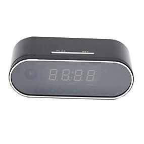 povoljno Zaštita i sigurnost-hqcam h.264 wifi stolni sat mini kamera 720p hd p2p dvr kamkorder alarmni set noćni vid daljinski monitor mikro kartica 32g 2200ma baterije 1/4 inčni CMOS simulirani fotoaparat