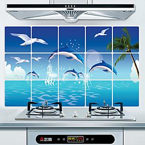 ieftine Bucătărie & Masă-Bucătărie Produse de curatat PVC Autocolante rezistente la ulei Tratament Anti-Pete / Rezistent la apă 1 buc