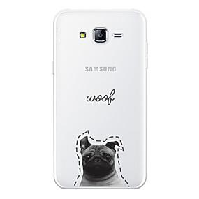 voordelige Galaxy J7 Hoesjes / covers-hoesje Voor Samsung Galaxy J7 (2017) / J7 (2016) / J7 Patroon Achterkant Hond / Woord / tekst / Cartoon Zacht TPU