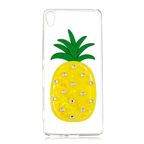 cheap Sony-Case For Sony Xperia XA / Xperia L1 Flowing Liquid Back Cover Fruit Soft TPU for Sony Xperia Z5 / Xperia XA2 / Sony Xperia XZ
