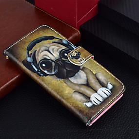 abordables Coques d'iPhone-Coque Pour Apple iPhone X / iPhone 8 Plus Portefeuille / Porte Carte / Avec Support Coque Intégrale Chien Dur faux cuir pour iPhone X / iPhone 8 Plus / iPhone 8