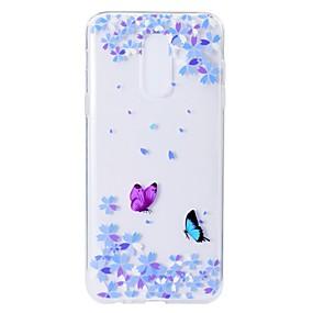 voordelige Galaxy A3(2016) Hoesjes / covers-hoesje Voor Samsung Galaxy A5(2018) / A6 (2018) / A6+ (2018) Patroon Achterkant Vlinder / Bloem Zacht TPU